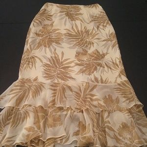Dana Buchman silk long skirt US 4